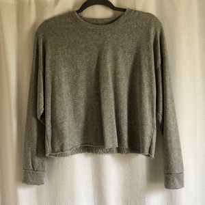 Heather Gray Cropped Sweater